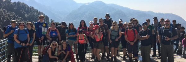 Participants trekking the Great Wall of China