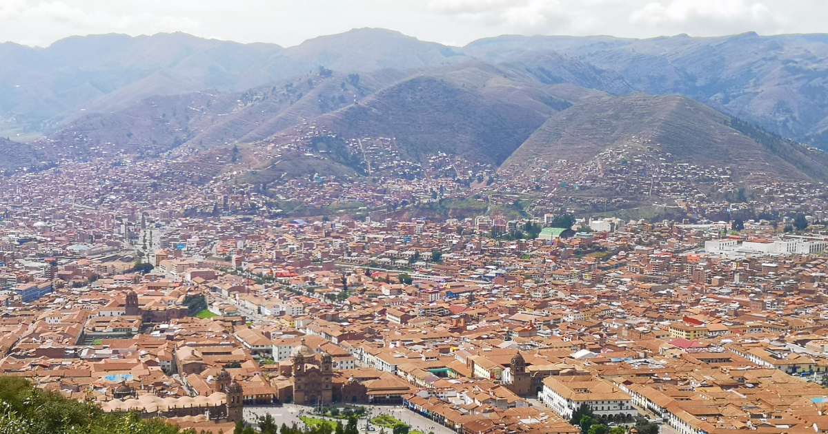 Cusco and the surrounding mountain ranges