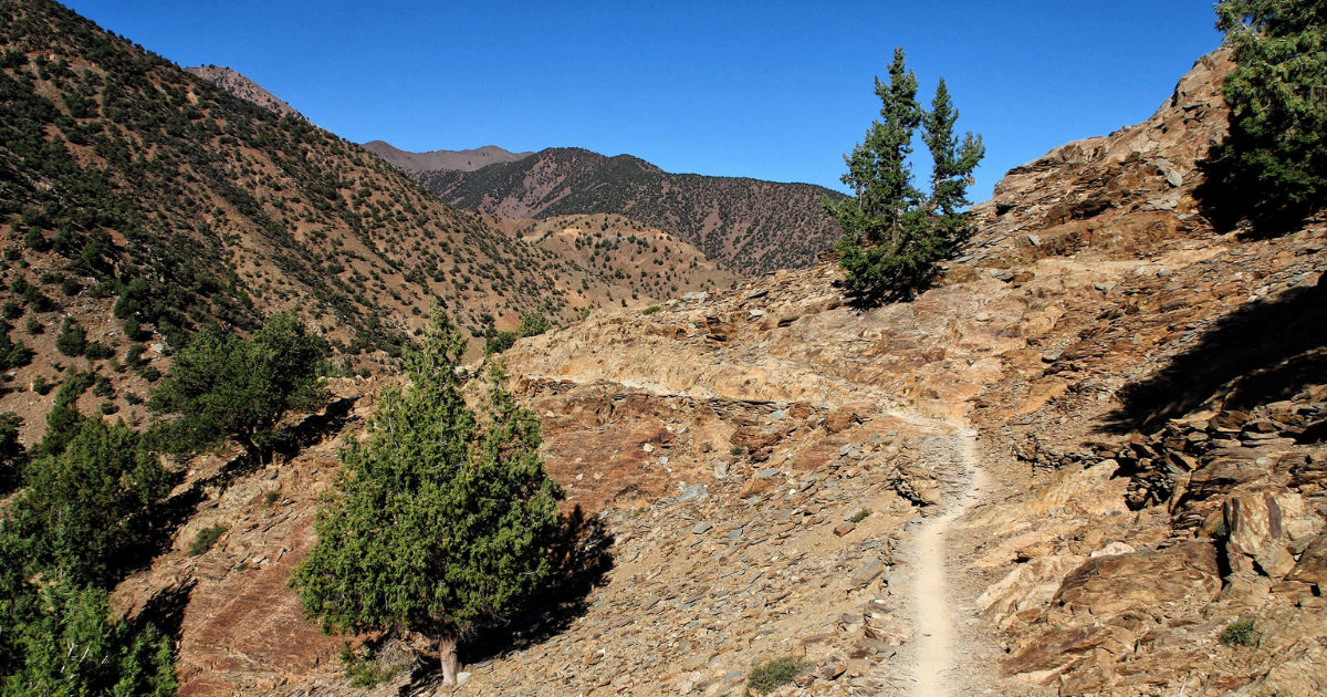 View along the Mount Toubkal route