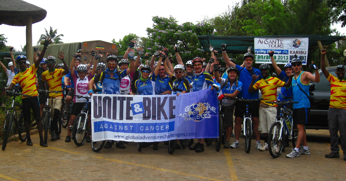Cyclists on the first ever Unite and Bike Challenge