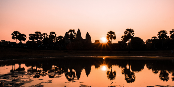 Angkor Wat, Cambodia - during sunset.