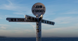 How far is it from Land's Ends to John O'Groats?