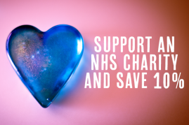 Support an NHS Charity and Save 10%!